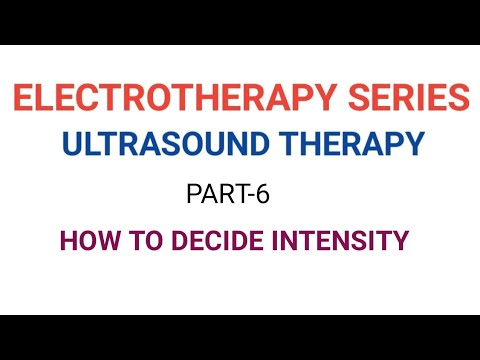 Electro therapy series-ULTRASOUND THERAPY PART 6 INTENSITY CONTROL
