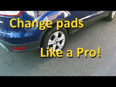 how to change disc brake pads youtube