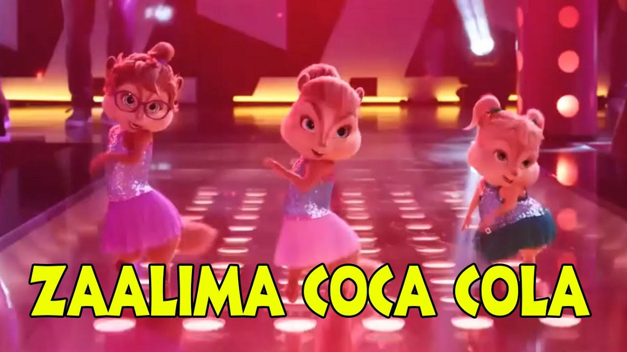 ZAALIMA COCA COLA PILA DE  NORA FATHEHI  SHREYA GHOSHAL  NEW HINDI BHUJ MOVIE SONG 2021  CHIPMUNKS