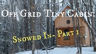 Off grid Tiny Cabin: Snowed In- Part 1