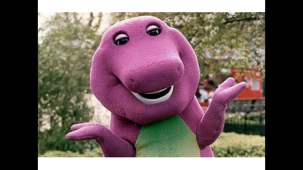 an overview of the character of barney a dinosaur form a child show