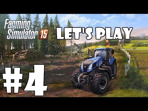 Lets Play Farming Simulator 15 - Episode 4 - THE HIRE WORKERS FERTILISE!