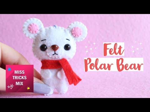 DIY: Polar Bear Christmas Felt Ornament | Christmas Crafts.