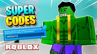 ROBLOX SUPERHERO SIMULATOR: ALLE CODES IM SPIEL & GAMEPASSES! [Update starten]