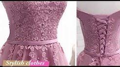 Knee length dress designs - Net frocks 2018 - Evening long dress 2018 - Bridesmaid dress ideas