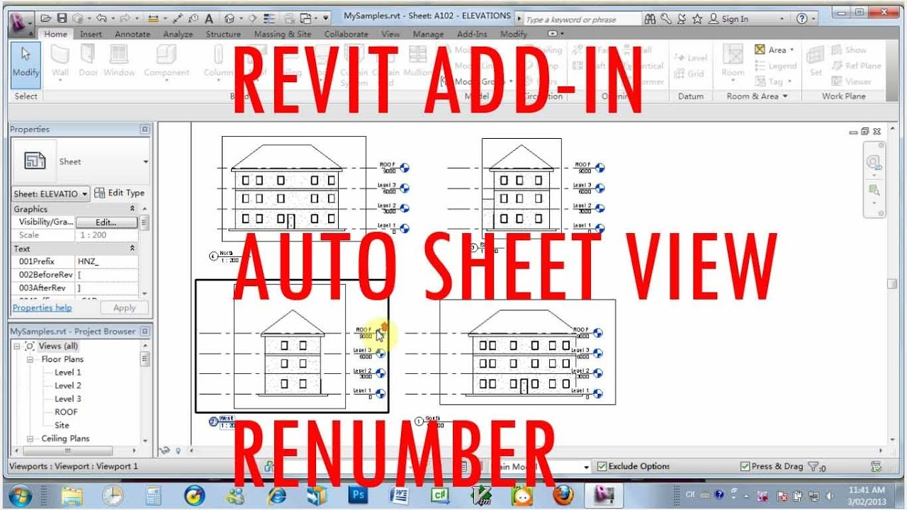 Revit Add In Automatic Sheet View Renumber
