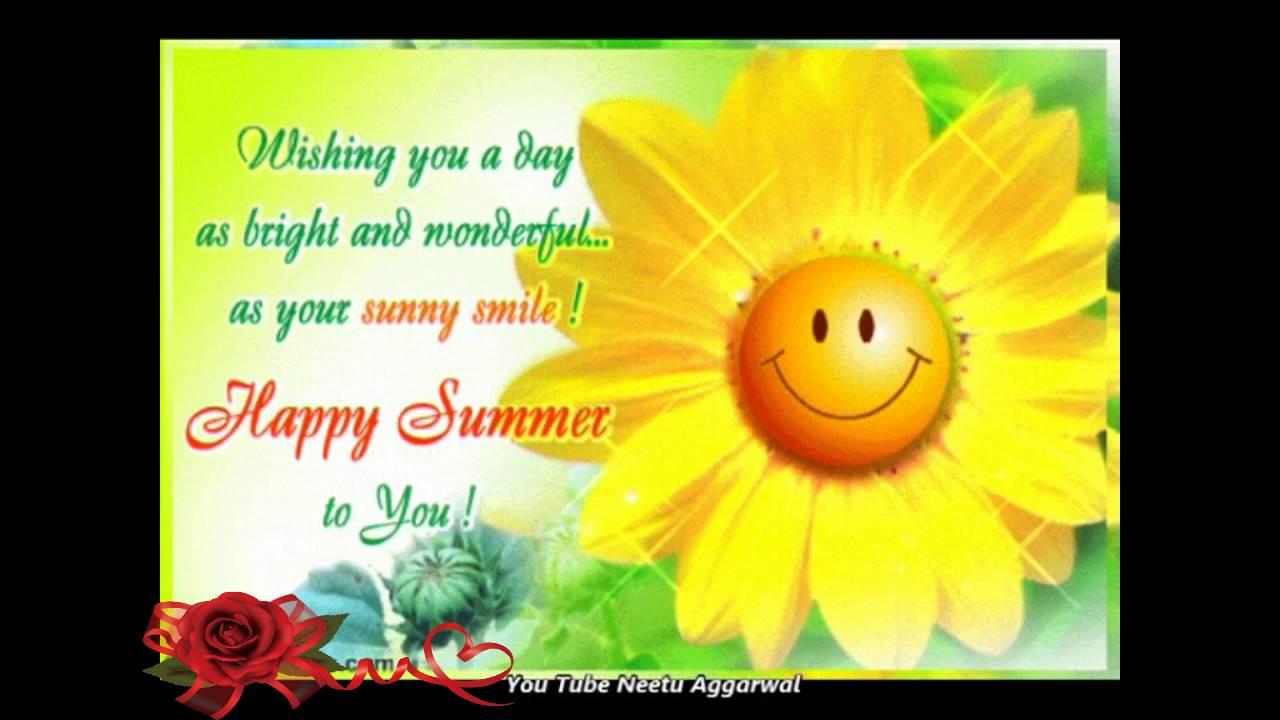 Happy Summerwelcome Summer Season Wishesgreetingsquotessms