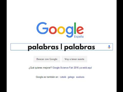 Comando avanzado de Google para indistintamente varias búsquedas