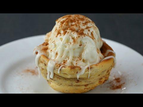 Download Youtube: Cinnamon Roll Ice Cream Bowl