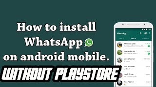 Gambar cover How to download whatsapp without playstore on Android