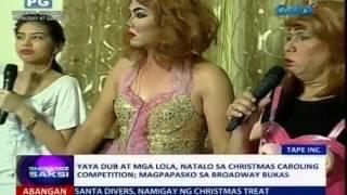 saksi yaya dub at mga lola natalo sa christmas caroling competition