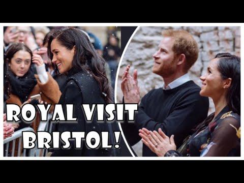 Harry & Meghan BRAVE FREEZING Temperatures Royal Visit Bristol Attend THREE Engagements