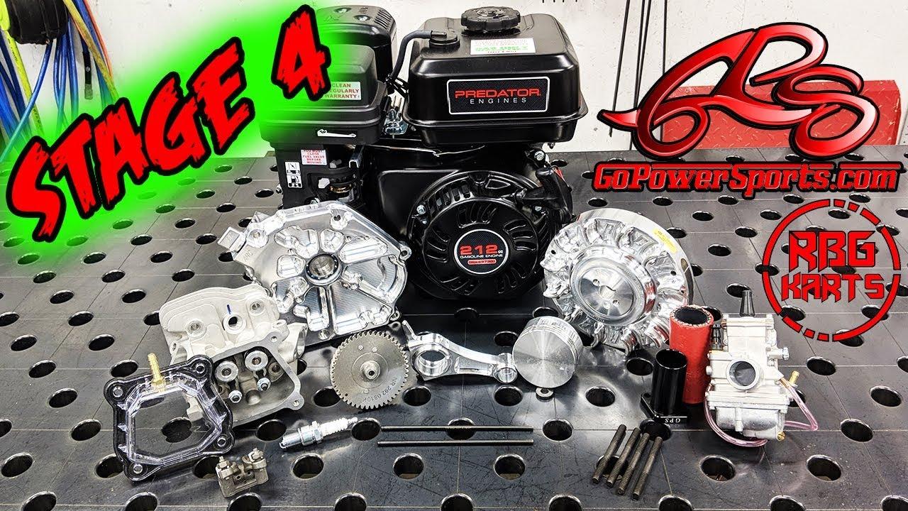 Predator 212 Stage 4 Engine Build 22hp Go Kart Mini