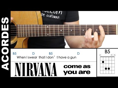 Nirvana - Come As You Are Guitar Chords Acordes de guitarra