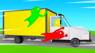 HOLD On To The 350MPH TRUCK Or LOSE! (Gang Beasts)