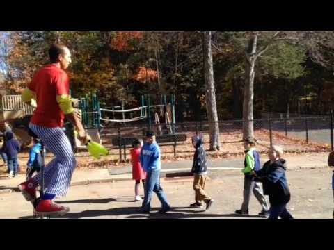 Celebrating the new West Woods School playground in Hamden.