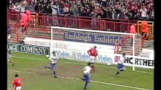 Charlton Athletic vs Crystal Palace 1995/96 Division One playoff Semi Final 1st leg
