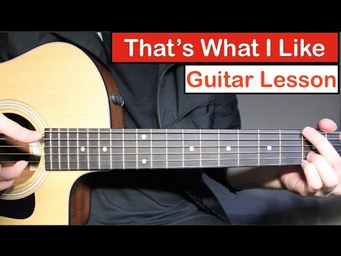 Bruno Mars - That's What I Like | Guitar Lesson (Tutorial) How to play Chords