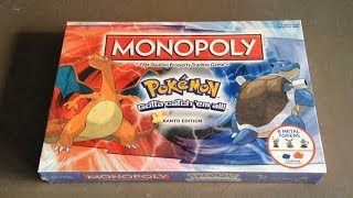 Monopoly Pokemon Kanto Edition Board Game Unboxing