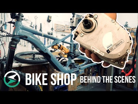 Behind the scenes in a Local Bike Shop, Specialized Levo and Kenevo at Berkshire Cycles