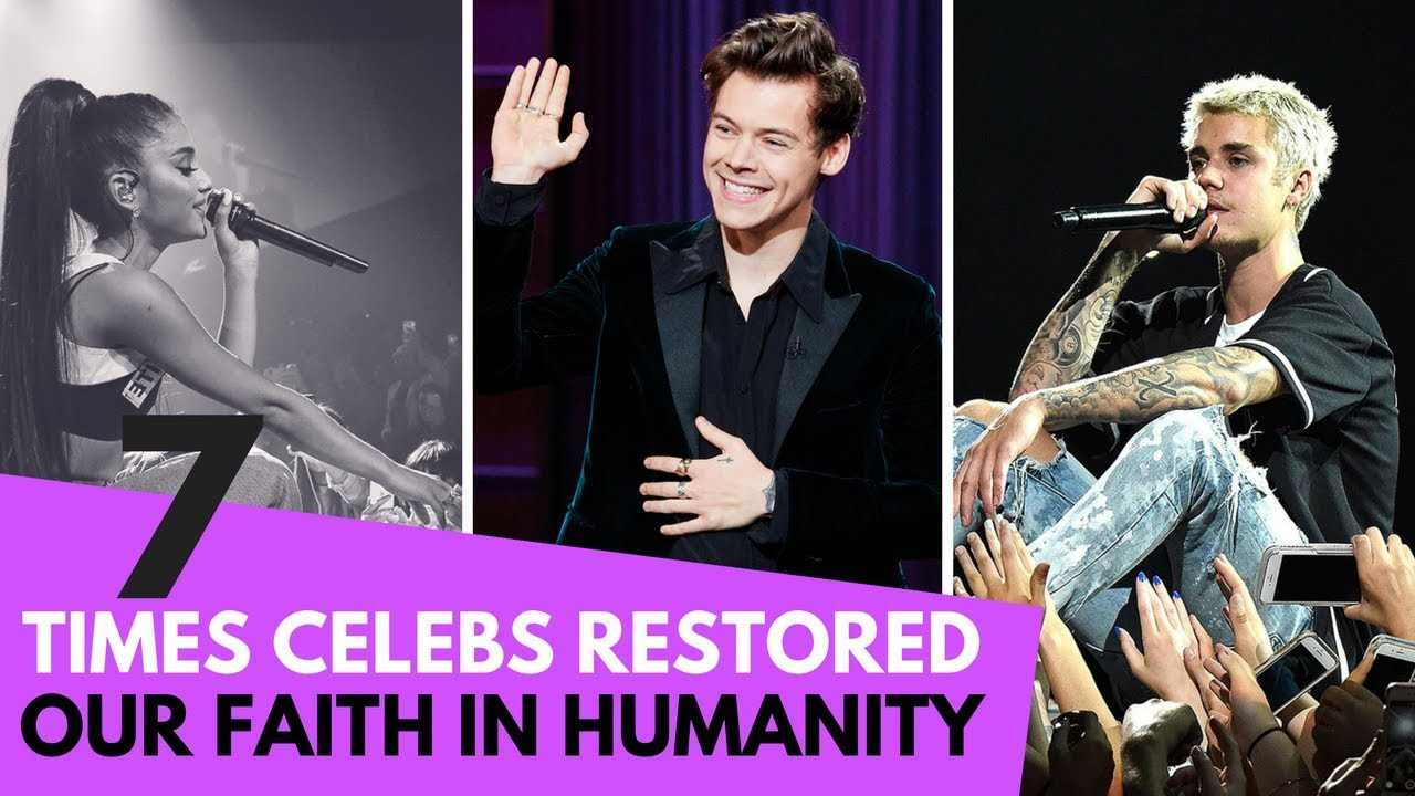 7 Times Celebs Restored Our Faith in Humanity! (Justin Bieber, Ariana Grande & Harry Styles)