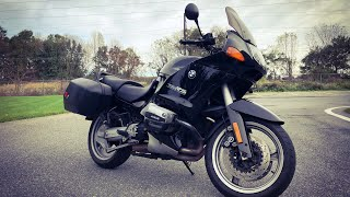 First time on a BMW R1100 RS: srkcycles year drive