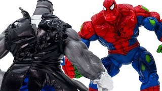 Power Rangers & Marvel Avengers Toys Pretend Play | SPIDER HULK VS GREY HULK MR FIXIT