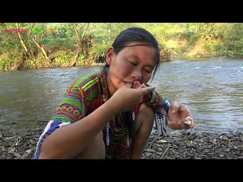 Primitive technology - Survival skills catching fish and Yummy cooking fish for eating delicious