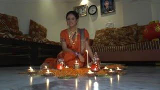 Actress Shweta Khanduri Celebrating Diwali