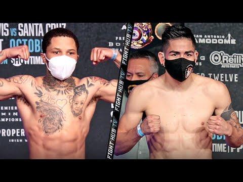 GERVONTA DAVIS VS LEO SANTA CRUZ | FULL WEIGH IN & FACE OFF VIDEO