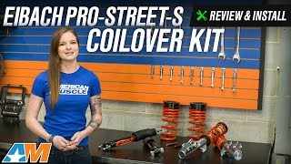 2015 2017 mustang eibach pro street s coilover kit gt ecoboost v6 review install