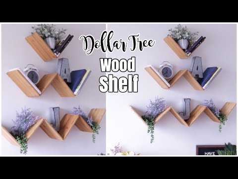 Dollar Tree DIY WOOD Floating Shelf | DIY Shelves