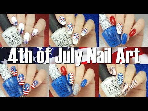 4th of July/American Nail Art Compilation ☆ SIX different designs!!