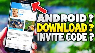 FORTNITE on ANDROID HANDYS ? DOWNLOAD & INVITE CODES ? | Fortnite Mobile: Battle Royale (English)