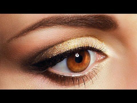 Ojos dorados Maquillaje Paso a Paso Maquillaje para ojos