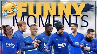 FUNNY MOMENTS OF 2019 | Smile with Barça!