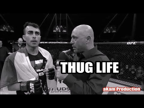THUG LIFE - Joe Rogan with Makwan Amirkhani Post Fight Interview