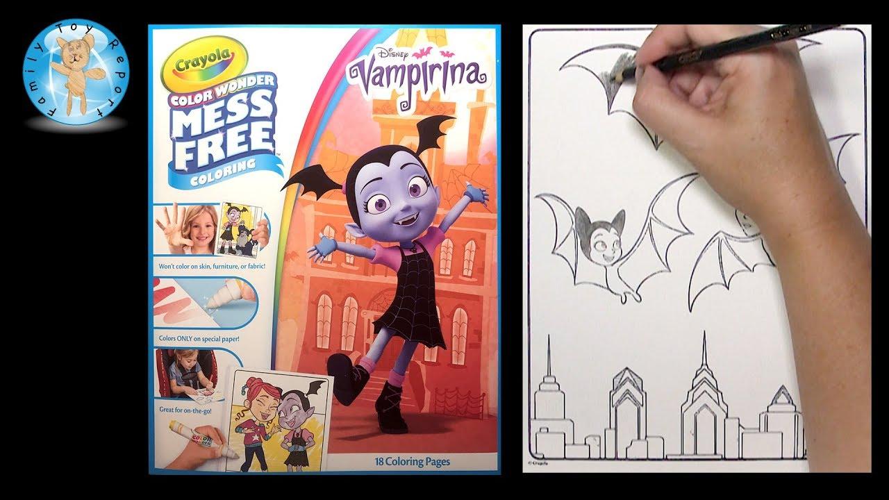 Coloring Vampirina Crayola Color Wonder Mom Dad Bats Disney Junior ...