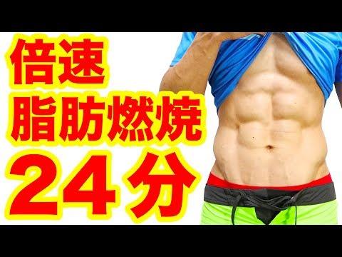 【週末24分】倍速脂肪燃焼プログラム!筋トレ8分・有酸素運動8分・ストレッチ8分の計24分間!