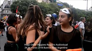 24 DE MARZO 2018 MARCHA & PERFOMANCES / Hugo Omar Viggiano Registro Audiovisual