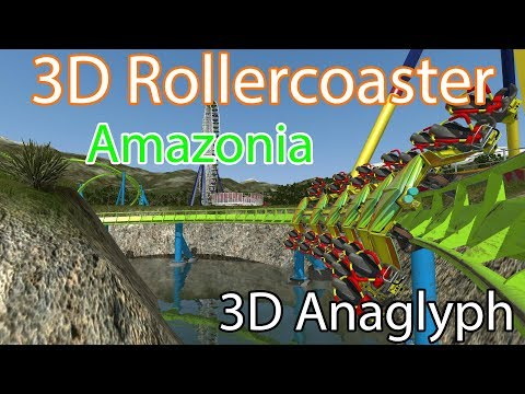 3D Rollercoaster: Amazonia (3D Anaglyph)