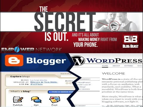 Using WordPress Blogs versus The Blog Beast for Mobile Blogging Empower Network Version 2