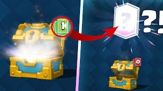 EPIC PACK OPENING COFFRE LÉGENDAIRE - OMG LEGENDAIRE COFFRE EN OR ?! CHANCE INCROYABLE CLASH ROYALE