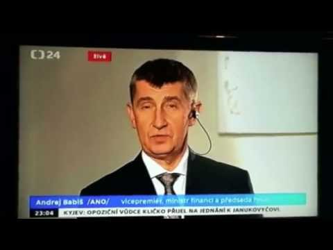 Andrej Babiš in a post-election interview in Czech TV