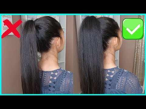 NEW EASY HIGH PONYTAIL HAIRSTYLE FOR SCHOOL, COLLEGE, WORK, PROM LONG PONYTAIL | TRENDING HAIRSTYLES thumbnail