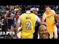 Lonzo Ball VS Dennis Smith Jr INTENSE OVERTIME THRILLER!! Lakers vs Mavs!