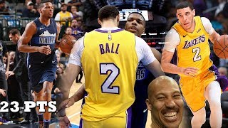 Lonzo Ball VS Dennis Smith Jr INTENSE OVERTIME THRILLER Lakers vs Mavs