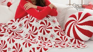 How to Crochet Peppermint Throw: Left Handed