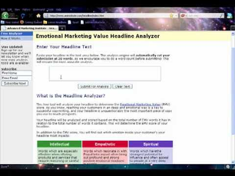 Emotional Marketing Value - Headline Analysis