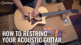How to correctly restring your acoustic | Guitar.com DIY